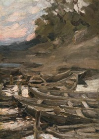 the boats by abram efimovich arkhipov
