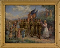 armistice day troops in france by jennie augusta brownscombe