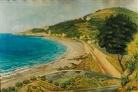 paesaggio ligure con ferrovia by amedeo angilella