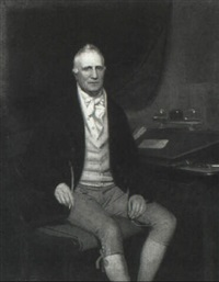 portrait of a gentleman (sir william rown hamilton?) by william humphrys
