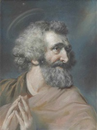 Study of George White, bust-length, as Saint , 1772