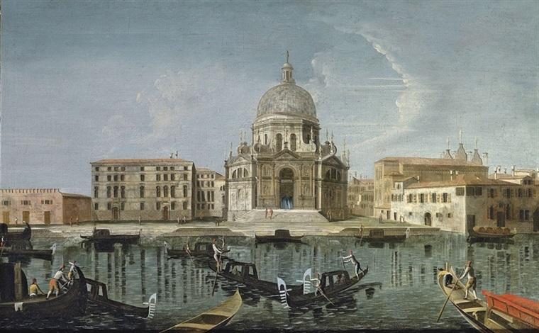 the grand canal with santa maria della salute venice by gabriel bella