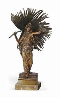 figure of an oriental lady by franz bergman