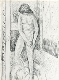 nu se lavant by pierre bonnard