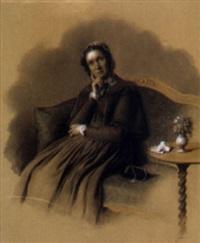 bildnis einer sitzenden dame by joseph achten