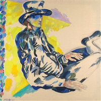 Woman with blue hat, 1994