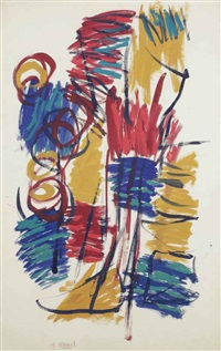 untitled (design for fabric) by karel appel