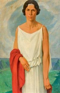 portrait de florence vêtue à l'antique by luc lafnet
