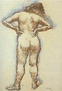 desnudo de espaldas by francisco serra