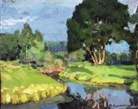 river landscape by vladimir pavlovich kormanayevsky
