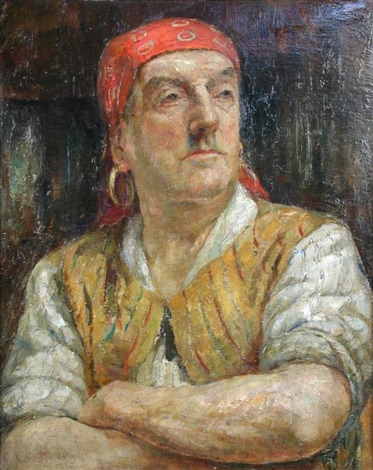 gypsy man by dame laura knight