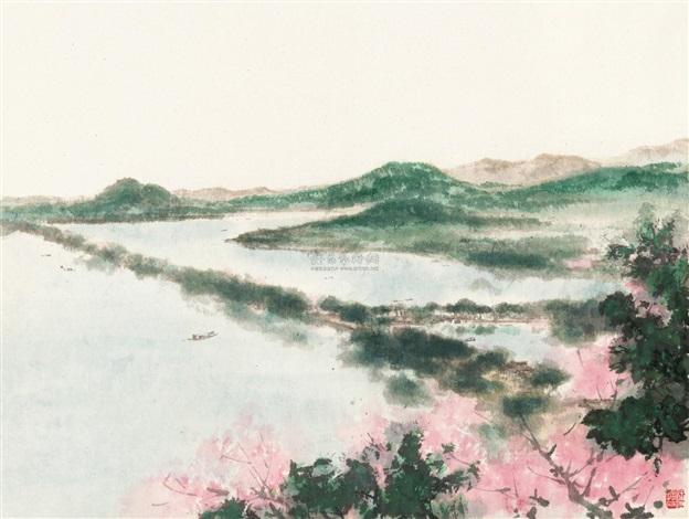 苏堤春晓 by fu baoshi