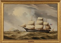 portrait of the american ship ocean eagle by duncan mcfarlane