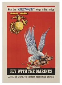 fly with the marines (by h.h.l.) by posters: world war i & ii