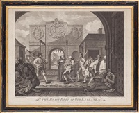 the gate of calais (o the roast beef of old england) by william hogarth