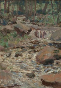 the trout brook by george agnew reid