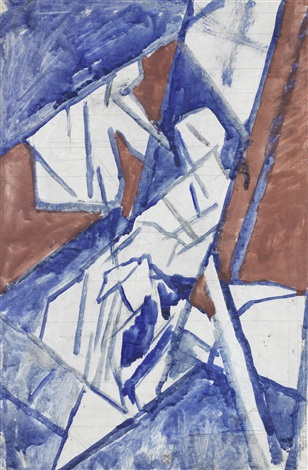 study for bargees dbl sided by david bomberg