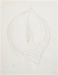 concetto spaziale (from: sei acqueforti originali di lucio fontana) by lucio fontana