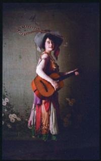 joueuse de guitare by edmond goldschmidt