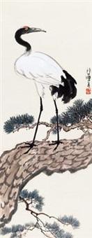 松鹤延年 by xu beihong