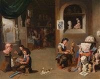 im atelier des bildhauers by balthasar van den bossche