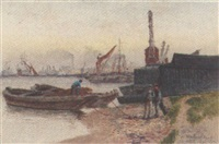thames in woolwich reach by francis seymour leslie