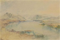 lake lucerne, with the rigi by joseph mallord william turner