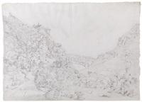 blick auf das alte schloss dornburg an der saale by friedrich christian reinermann