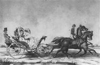 la promenade en calèche by victor-jean adam