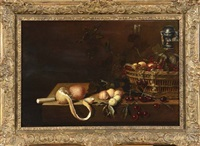 nature morte aux fruits sur un entablement by flemish school-antwerp (17)