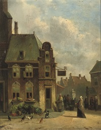 daily activities outside the greengrocer's by joseph bles