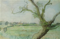 leaning tree, hertfordshire by william ratcliffe