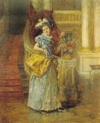 la dama en la escalera by edouard leon