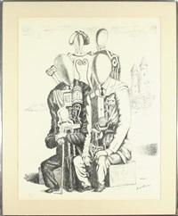 nobile et borghesi (ciranna 155) by giorgio de chirico