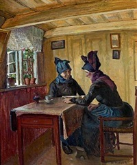 interior with two women, fano by niels holbak