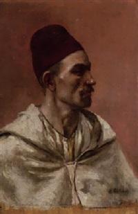 portrait d'homme à la chéchia rouge by adolphe charles edouard steinheil