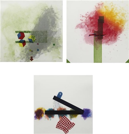 label 5 6 and 7 from label 5 8 series 3 works by richard tuttle