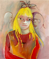 girl with blonde hair by anne marie hall