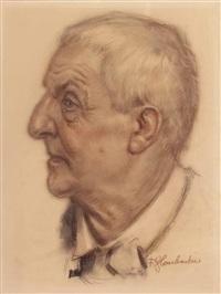 porträt anton bruckner by franz glaubacker
