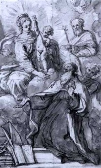 madonna and child appearing to saint augustine by flaminio torre