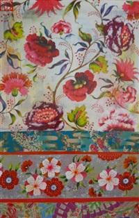 grande perse fleurs et tissus japonais by sophie adde