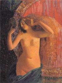femme à sa coiffure by francois-marius valere-bernard