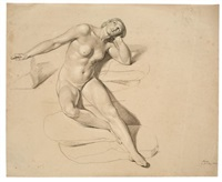 nude, looking upwards by bonaventura genelli