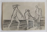 three bathers on a shore by keith vaughan