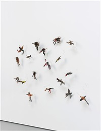 group of birds (in 18 parts) by brad kahlhamer