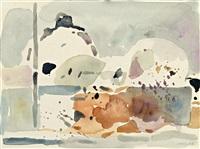 nordafrikanisches dorf by oskar koller