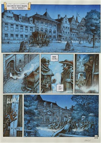 la conjuration d'opale, planche 31 (from album le serment) by grun