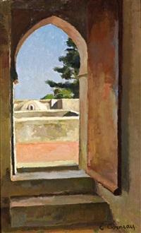 le toit de la villa abd-el-tif by eugene louis corneau