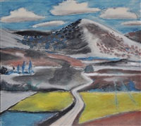 landscape surreal by paul nash