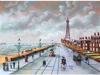blackpool old and new (a pair) by bernard mcmullen